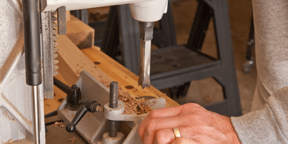 how to drill a square hole in  wood