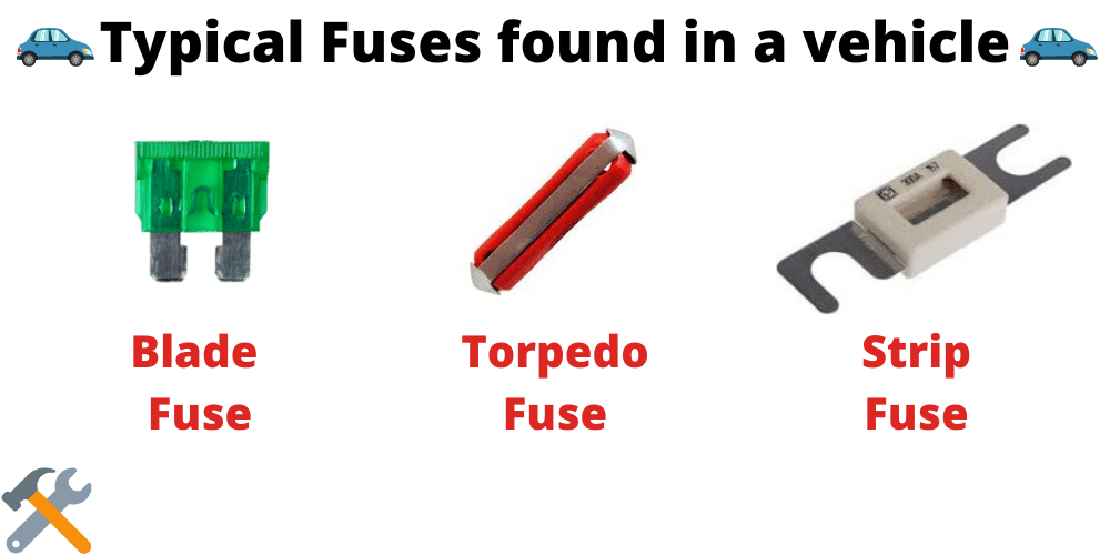 fuses found in your car
