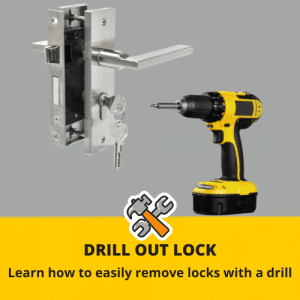 How to drill out a lock