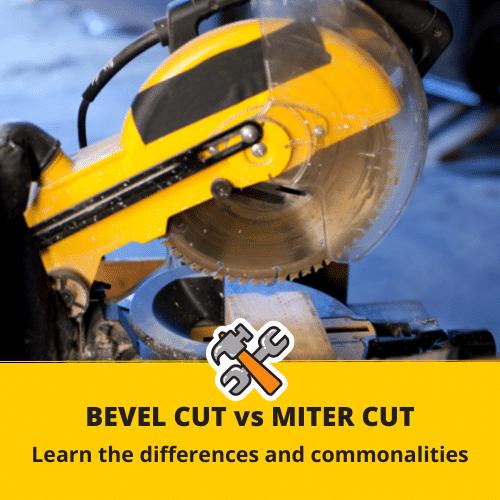bevel cut vs miter cut