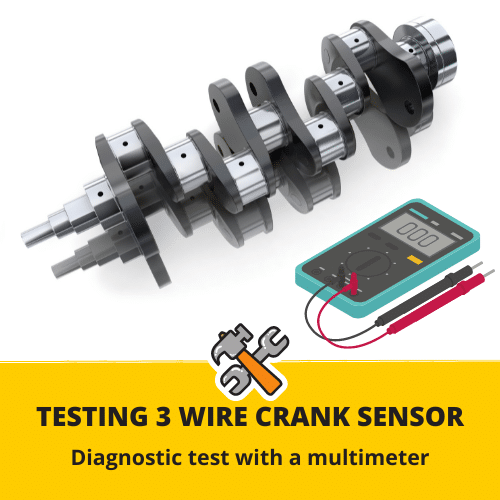 how to test 3 wire crank sensor with multimeter