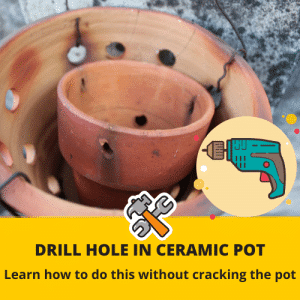 How to drill hole in ceramic pot
