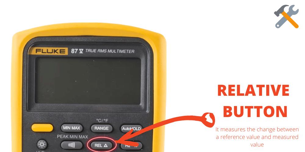 multimeter REL button