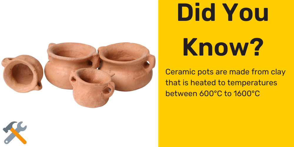 drill hole into ceramic pot